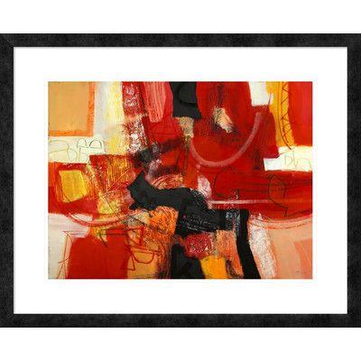 "Global Gallery 'Davanti al fuoco' by Maurizio Piovan Framed Graphic Art Size: 26"" H x 32"" W x 1.5"" D"