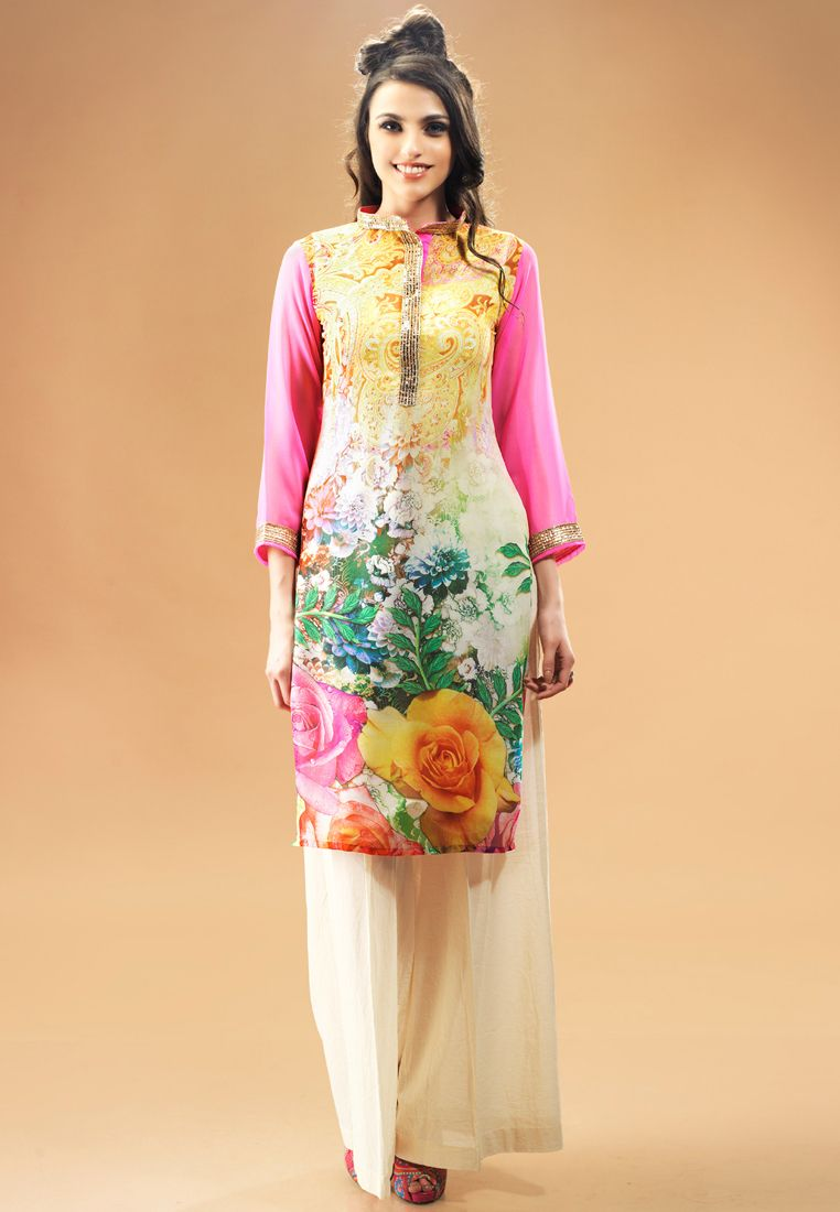Admyrinmulticolorprintedkurti new suits pinterest color