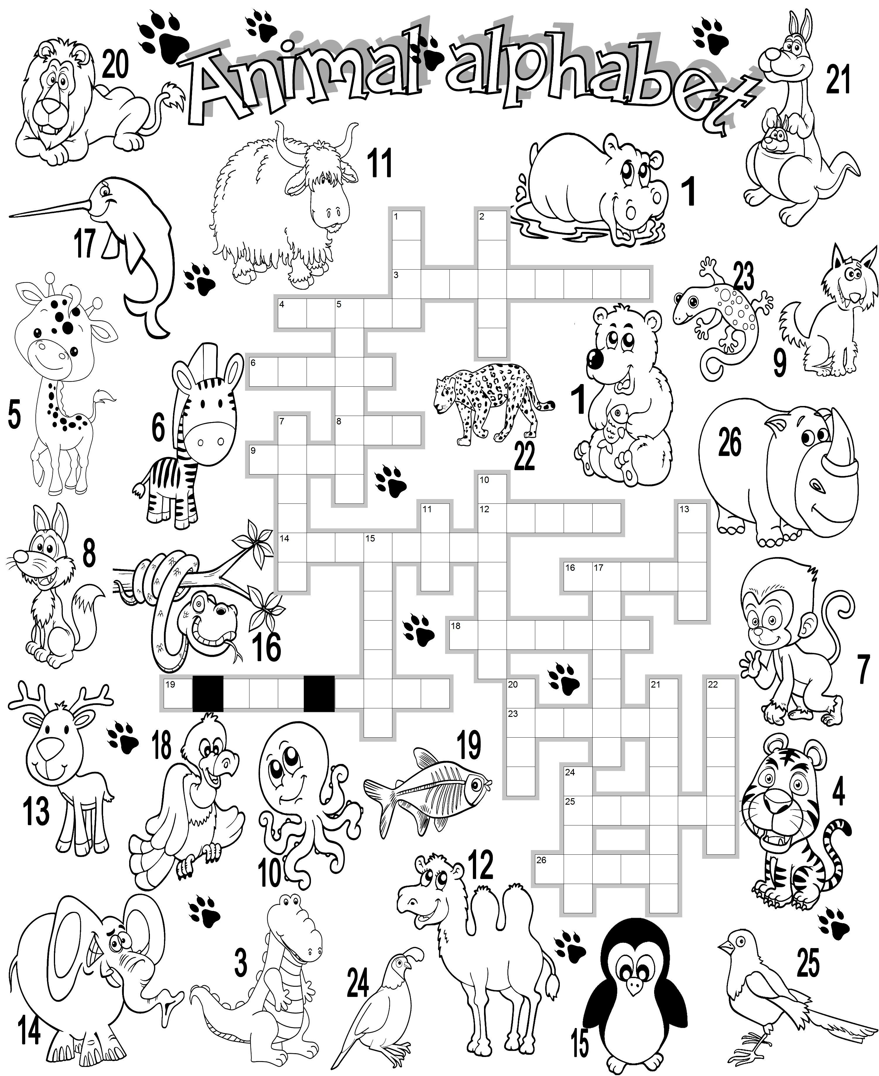 Wild Animal Crossword
