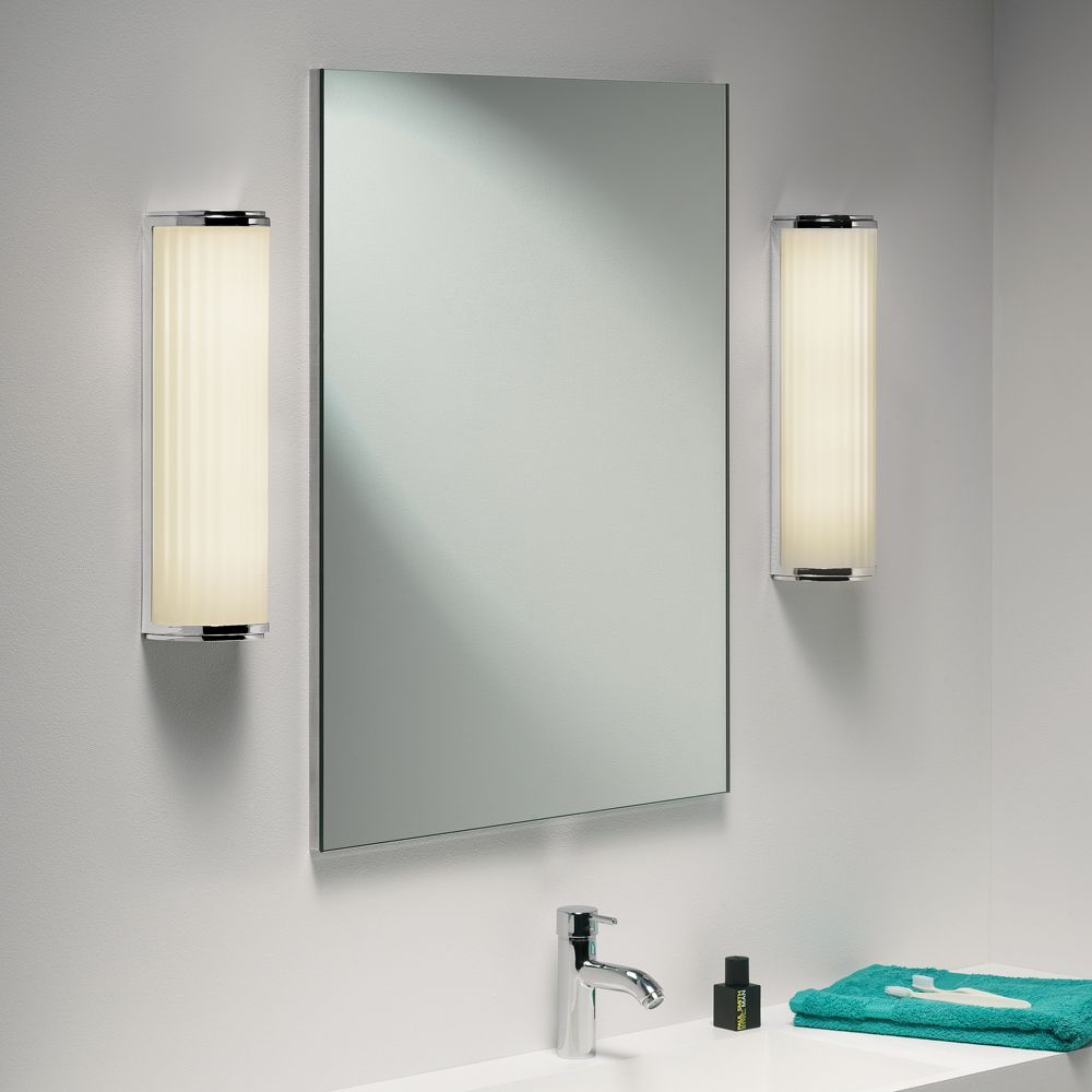Mirror Astro Monza Plus 400 Ip44 Wall Light In Chrome