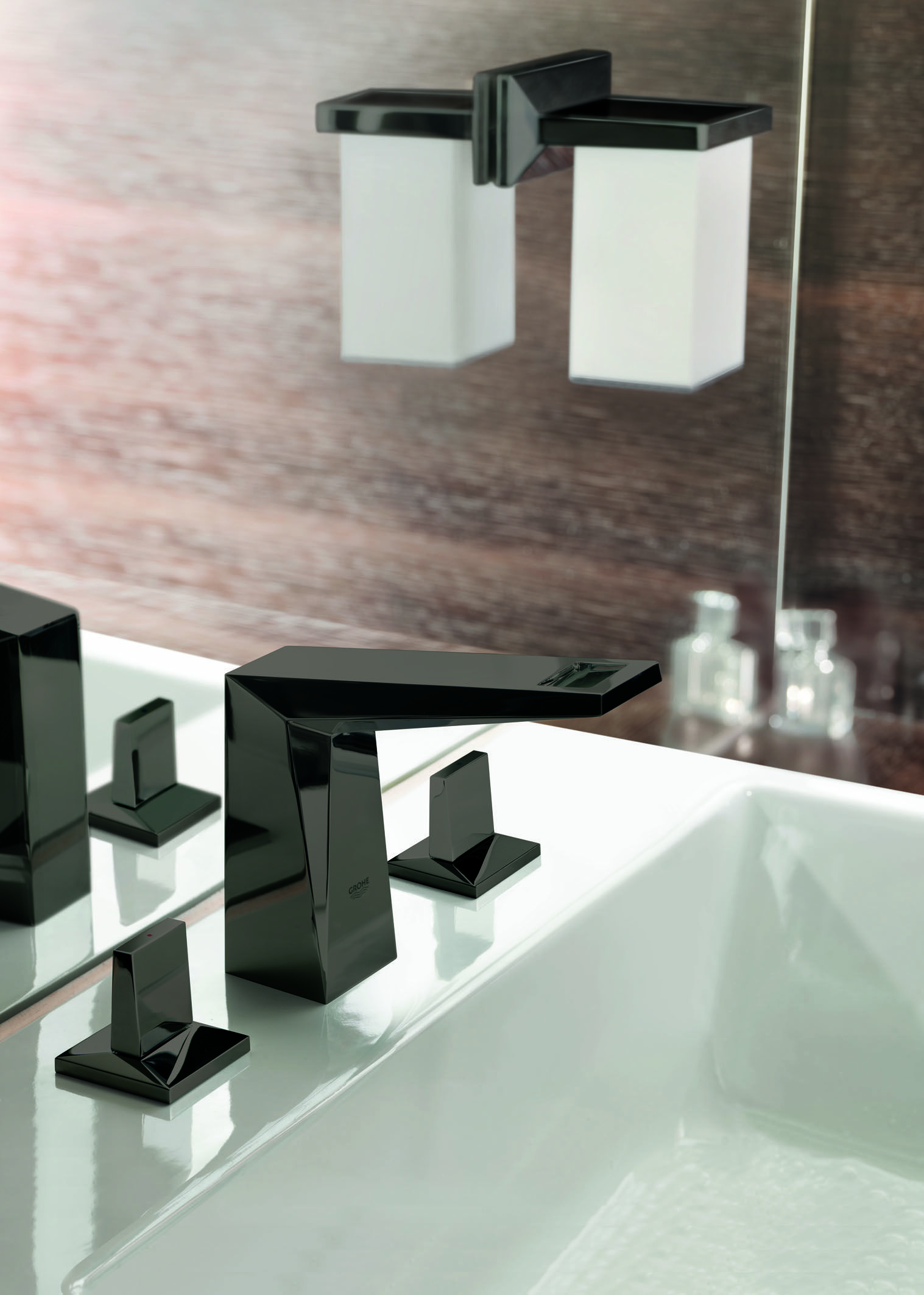 Black Brilliance : Allure Brilliant in Black color   Bathrooms ...