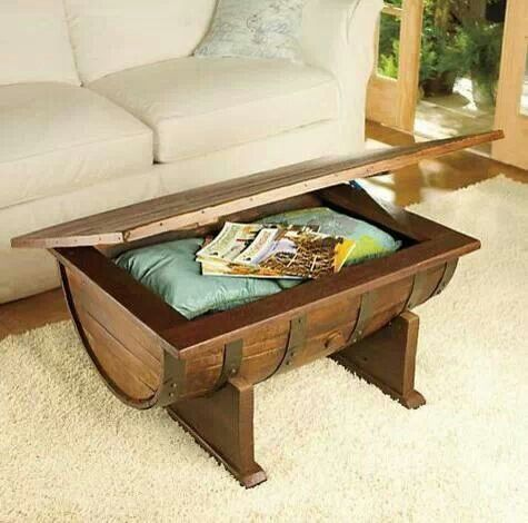 Nice Whiskey Half Barrel Coffee Table