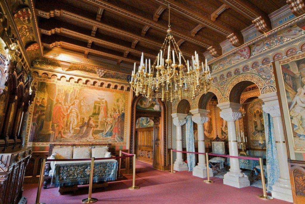 Schwangau: Schloss Neuschwanstein, Wohnzimmer von Ludwig II