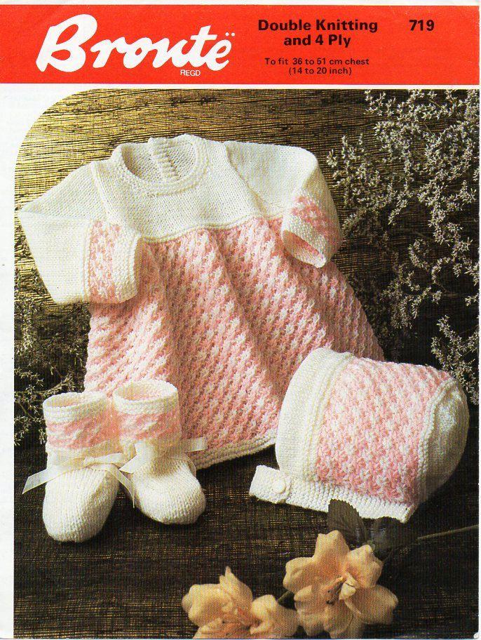 e81d30e11 baby dress knitting pattern pdf download baby girls dress bonnet ...