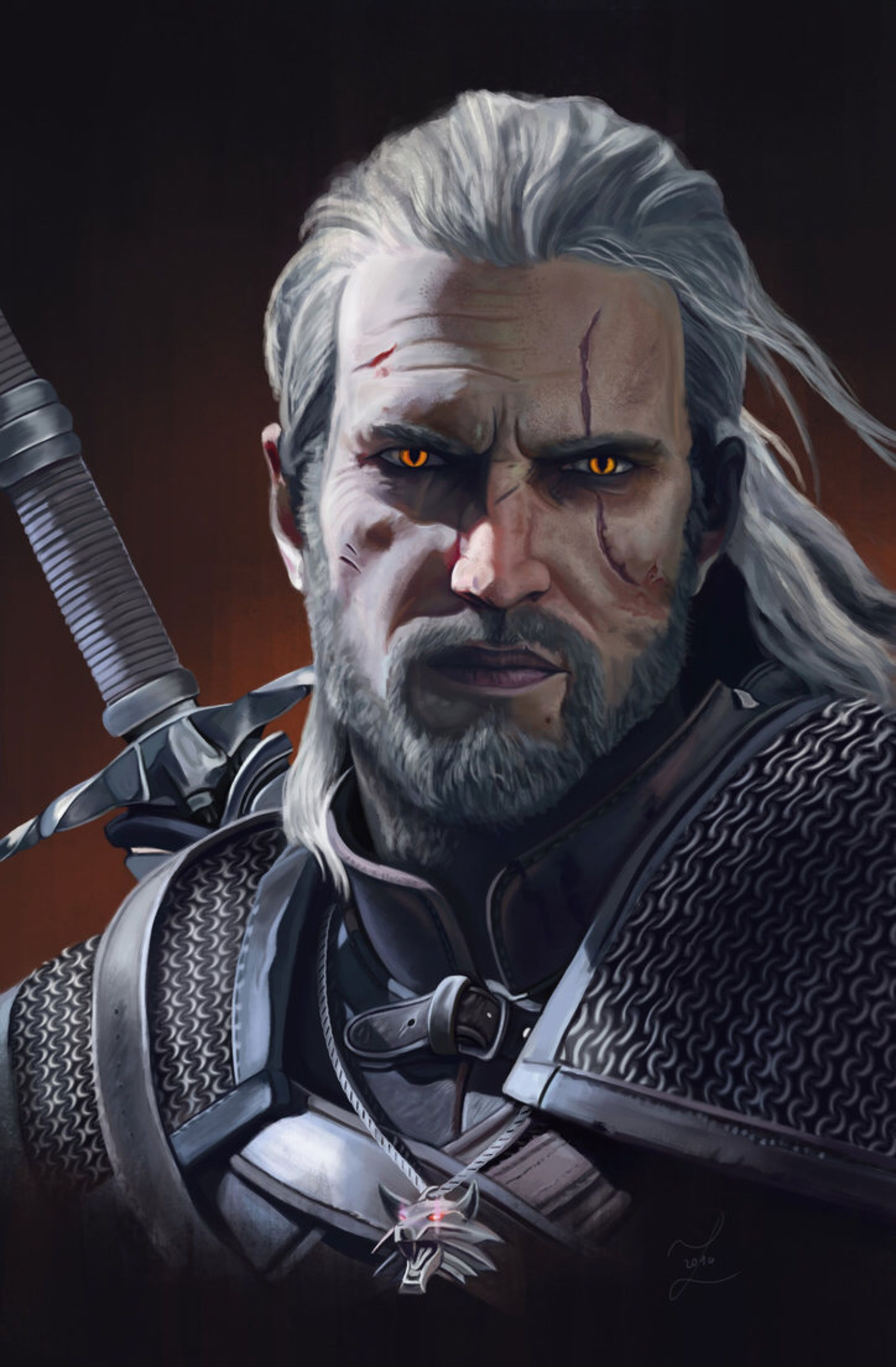 Geralt Of Rivia By Zary Cz On Deviantart Witcher Witcher