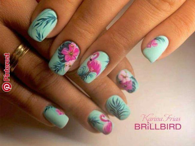Pin By Kathleen Barlow On Summer Nail Designs In 2019 Pinterest Flamingo Nails Summer Nails And Nail Desig Flamingo Nails Nail Designs Summer Summer Nails