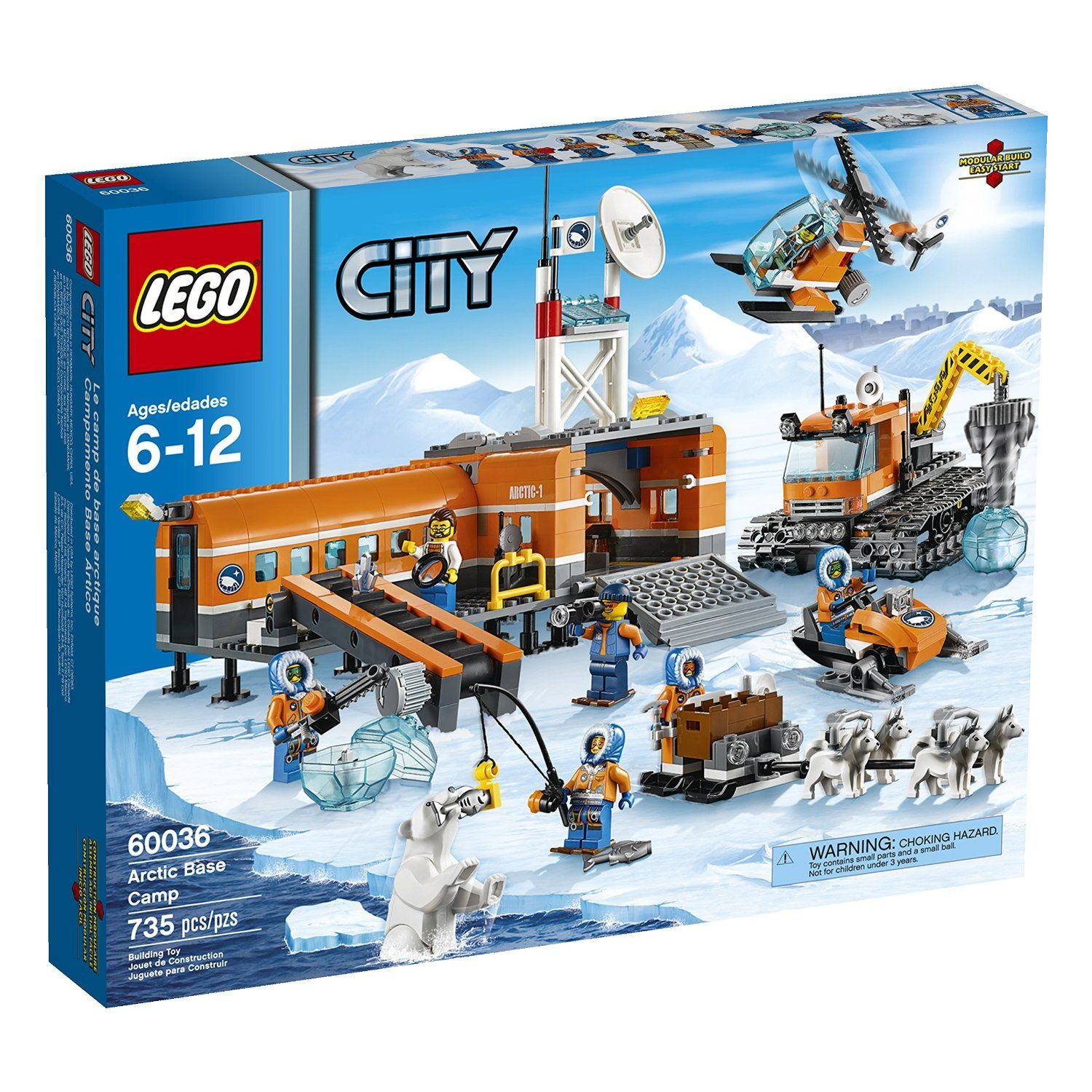 Pin lego 60032 city the lego summer wave in official images on - Amazon Com Lego City Arctic Base Camp 60036 Building Toy Toys Games