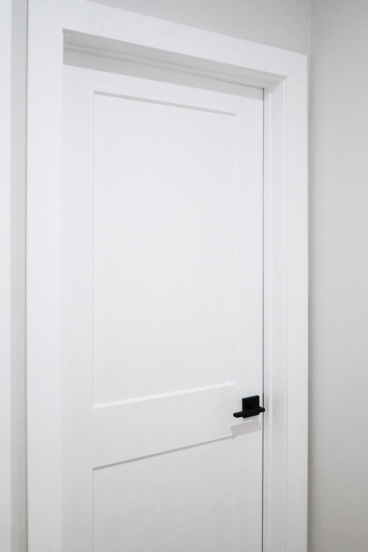 White Door Black Hardware In 2020 White Interior Doors White Doors White Bedroom Door