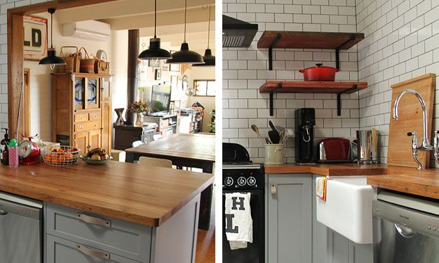 Custom Kitchen Design And Recycled Timber Bench Tops  Kitchen Prepossessing Timber Kitchen Designs Inspiration