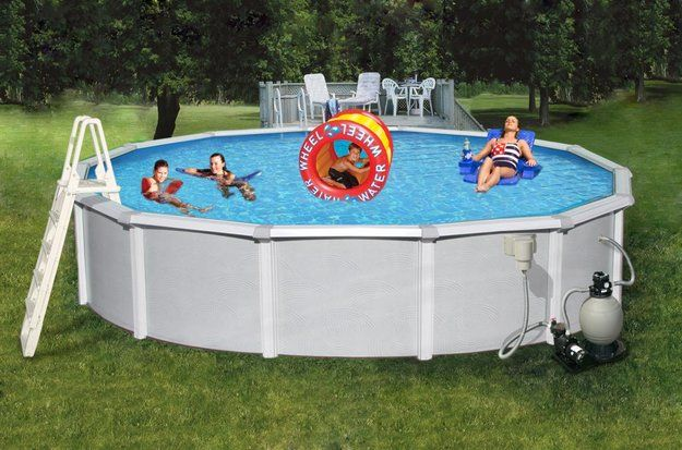 Swim Time Samoan Round Metal Wall Swimming Pool 21u0027 X 52 | Hogar Inluenster  | Pinterest | Honest Products And Tutorials