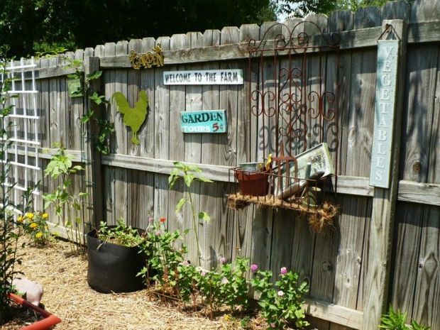 25 Ideas for Decorating your Garden Fence | Garden fencing, Fences ...