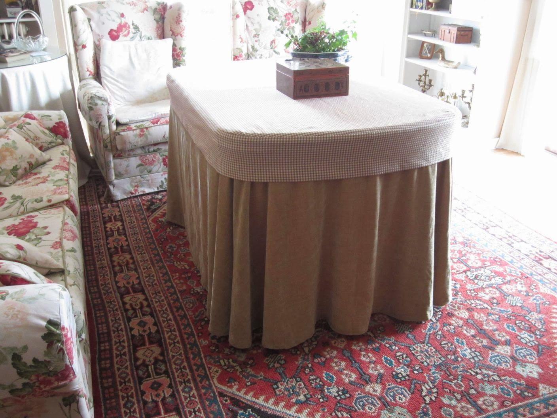 Para vestir una mesa de camilla ovalada proyectos que - Vestir mesa camilla ...