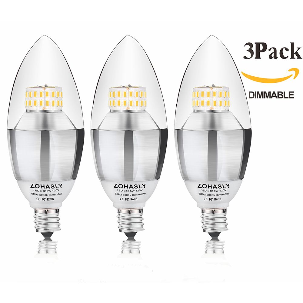 Lohasly 5w dimmable led candelabra bulb 40 watt equivalent natural lohasly 5w dimmable led candelabra bulb 40 watt equivalent natural light 5000k light bulbs arubaitofo Images