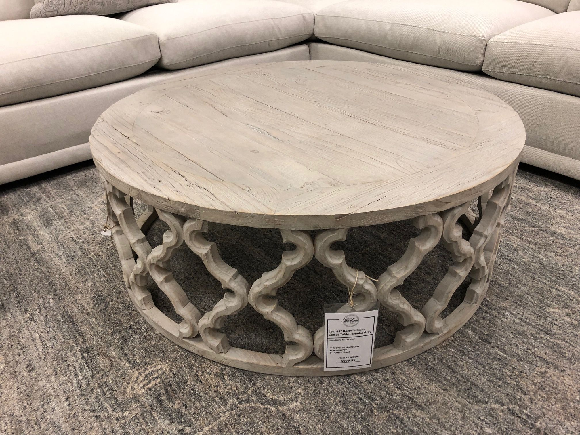 Levi 42 Recycled Elm Coffee Table Smoke Gray In 2020 Elm