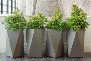 Faceted Planters Outdoor Planters Concrete Planters Modern Planters
