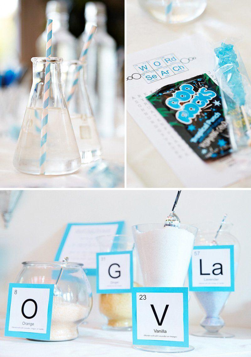 Chic & Creative Chemistry-Inspired Bridal Shower | Diy bath salts ...
