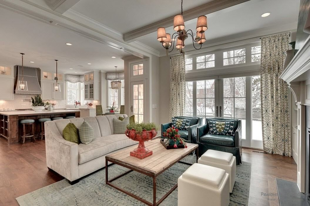 Lay Out Your Open Plan Living Room The sofa placement in this ...