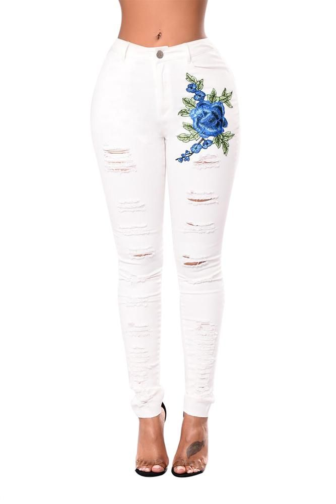 9404938df85 The High-waisted Skinny Jeans should be in every girl s wardrobe! Featuring  embroidered design
