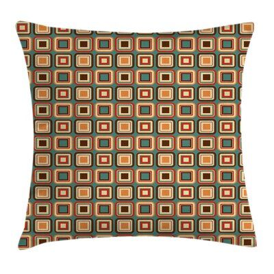 East Urban Home Ambesonne Modern Throw Pillow Cushion Cover, Geometrical Pattern...