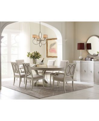 Rachael Ray Cinema Round Dining Furniture, 9-Pc Set (Expandable