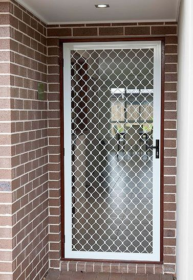 Diamond Grill Security Door Doors Screendoors Security Screen Door Metal Screen Doors Steel Door Design