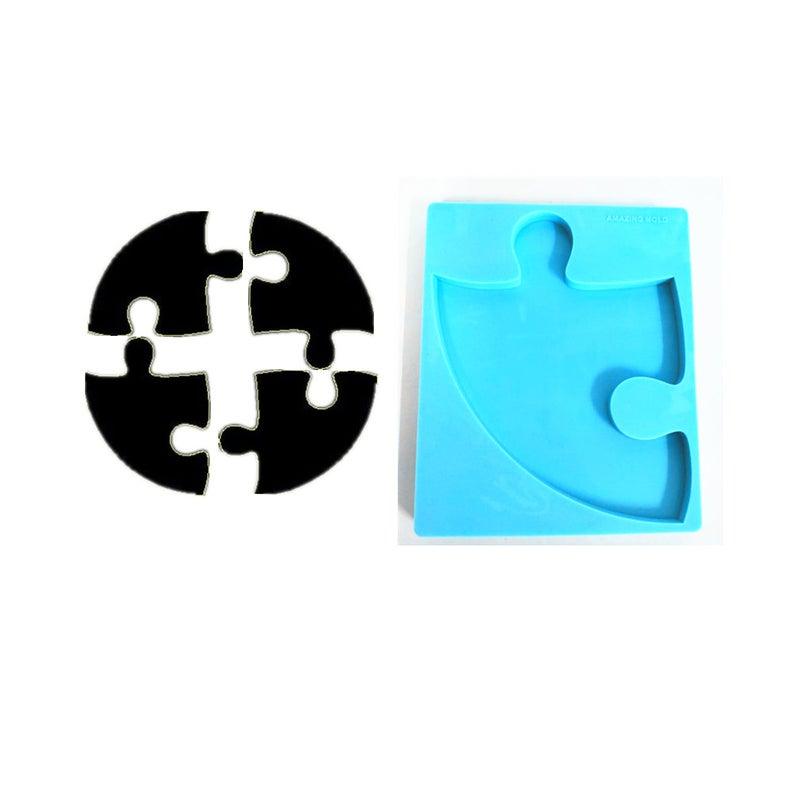 1 4 Round Puzzle Piece Silicone Coaster Mold Resin Mold Etsy In 2020 Puzzle Pieces Round Puzzles Etsy Shipping