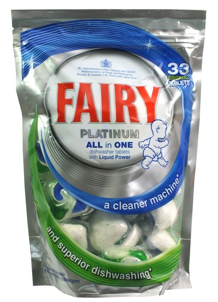Gentil 33 Fairy Platinum All In One Dishwasher Tablets