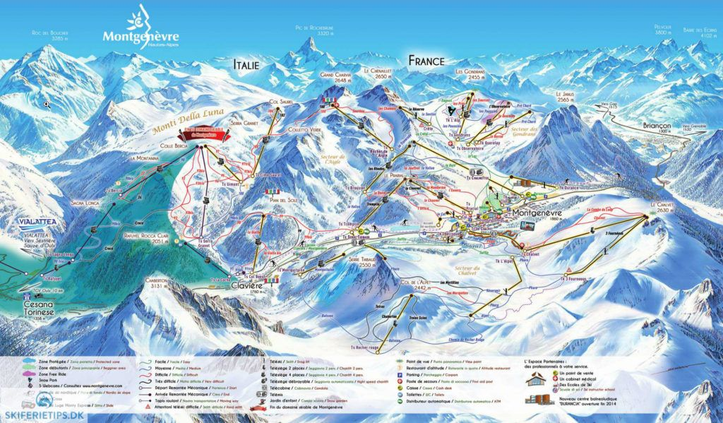 Montgenvre Piste Map High resolution JPEG skiing france