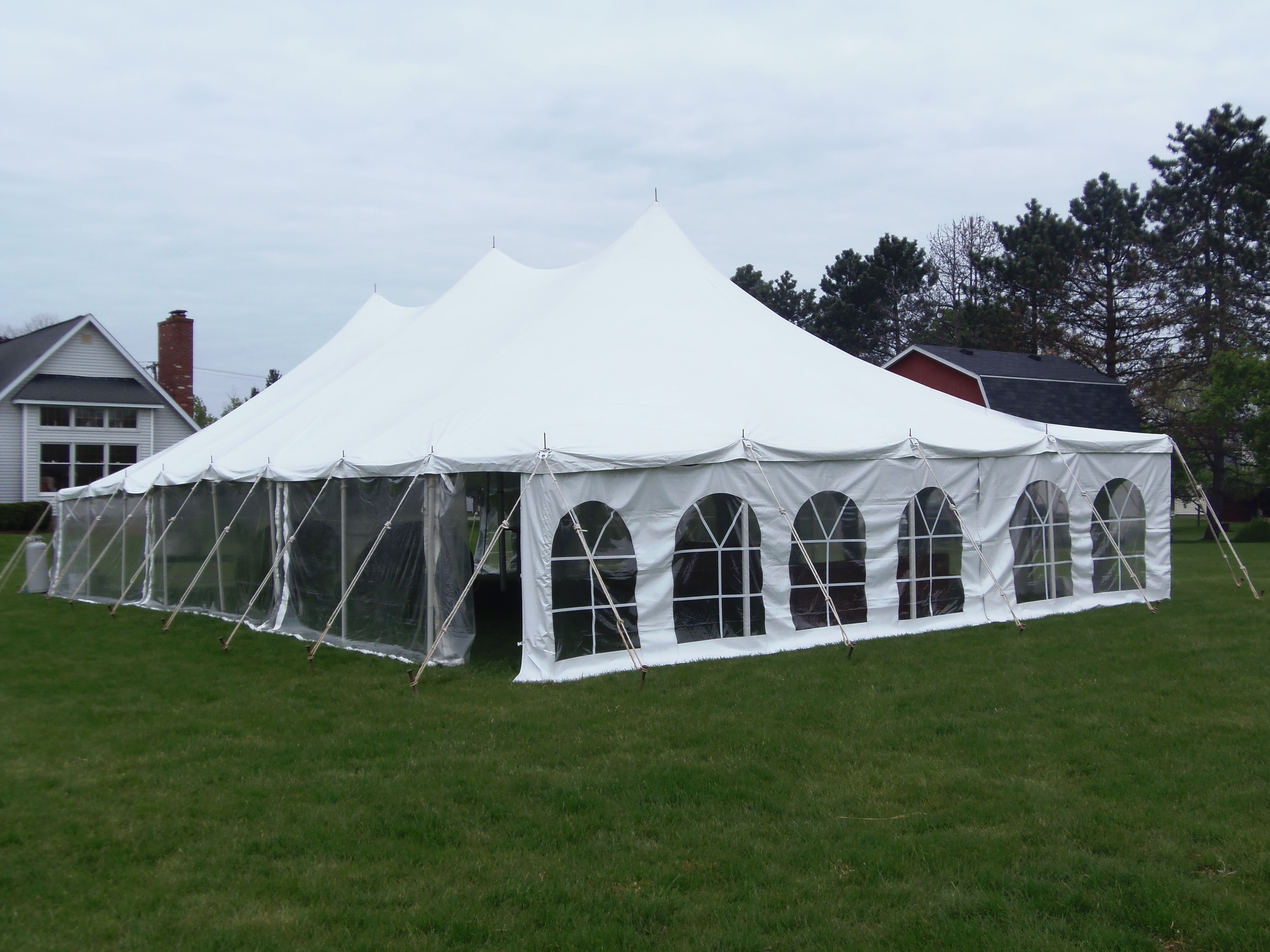 Nolan's rental, 30 x 60 wedding tent  One clear side the