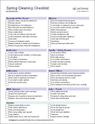 Spring Cleaning/ Organizing Tips with Printable Checklist