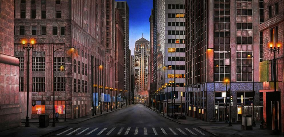 Chicago Streets Professional Scenic Backdrop Take A Walk Downtown Where The Buildings Tower Above You Into The Sky Pe Chicago Street City Backdrop Chicago