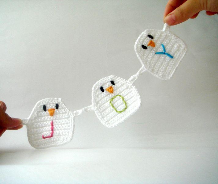 hand to hand birds garland de Petit and Cute Design sur DaWanda.com