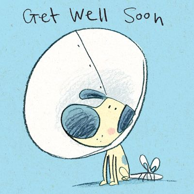 Get Well Soon Copy Get Well Dog Illustration Dog Drawing