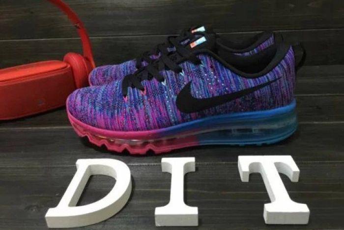 timeless design dec52 2cf4b Nike Flyknit Air Max Womens Blue Pink Purple Shoes | Nike ...
