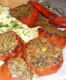 Tomatoes stuffed with pesto ciabatta recipe