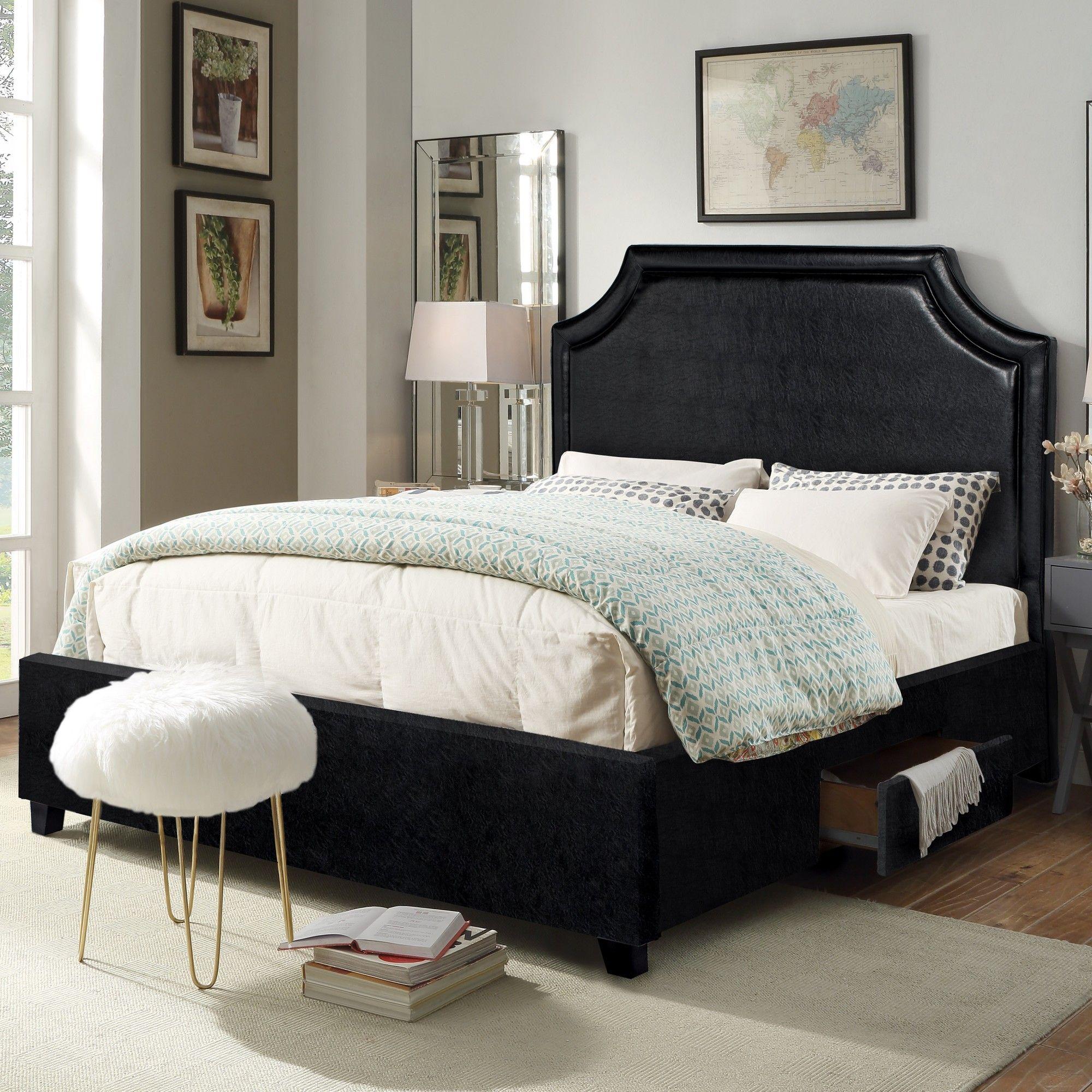 Louis Storage Platform Bed Bed frame and headboard