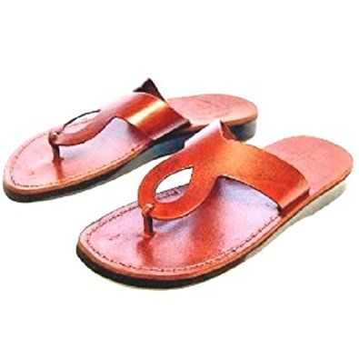 0647d44201008 Unisex Adults Children Genuine Leather Biblical Sandals   Flip flops (Jesus  – Yashua) Andrew Style I – Holy Land Market Camel Trademark Review
