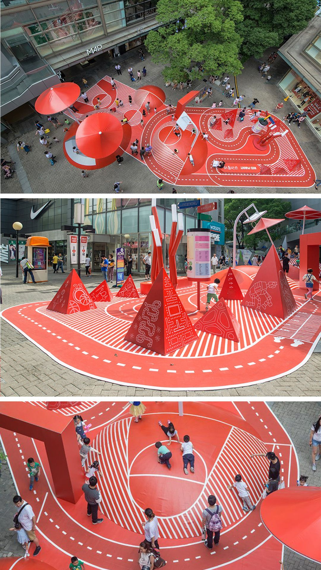 Garden Design 100architects Design Vibrant Red Planet Playground In Shanghai Arch2o Com Playground Design Playgrounds Architecture Playground