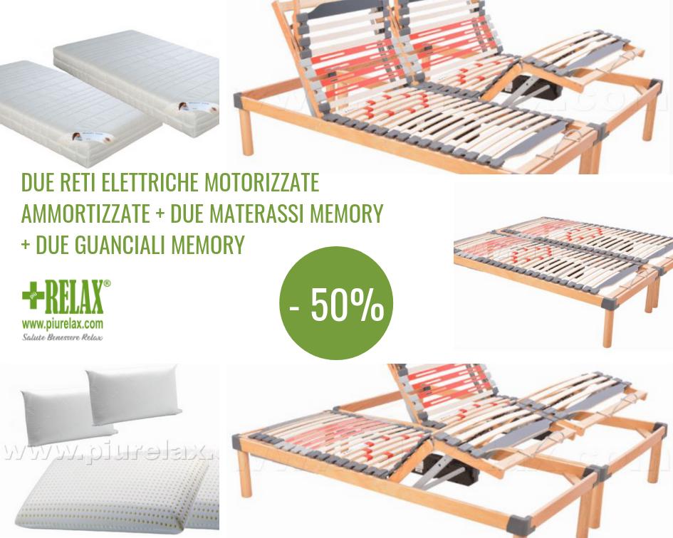 L Offerta Luxury Memory E Composta Da 2 Reti Motorizzate Ammortizzate 2 Materassi Memory Sfoderabili Rivestimento Anallergico Antib Rete Doghe In Legno Materia