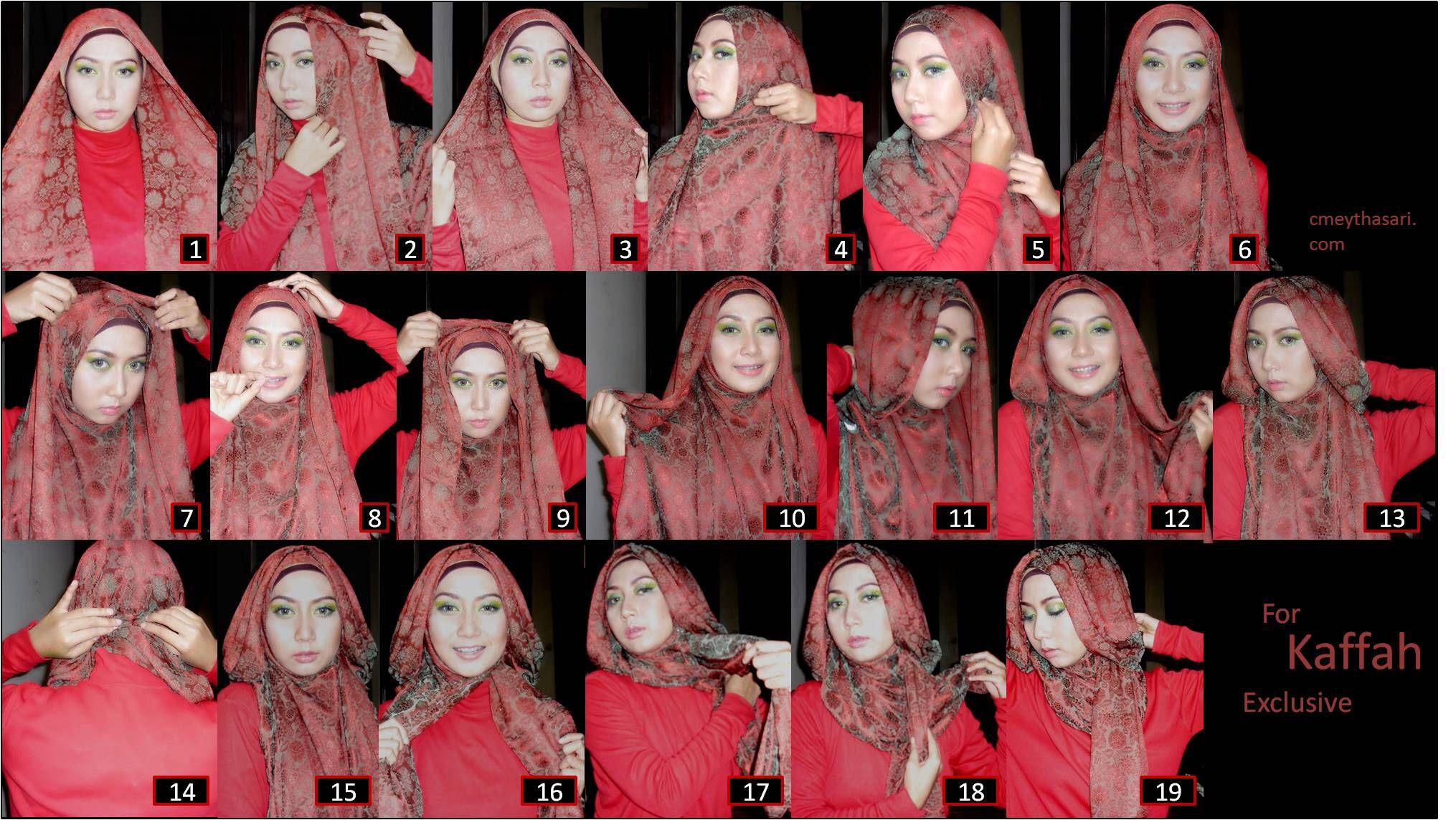 Hijab Pashmina Tutorial Stepbystep Hijabku Pinterest