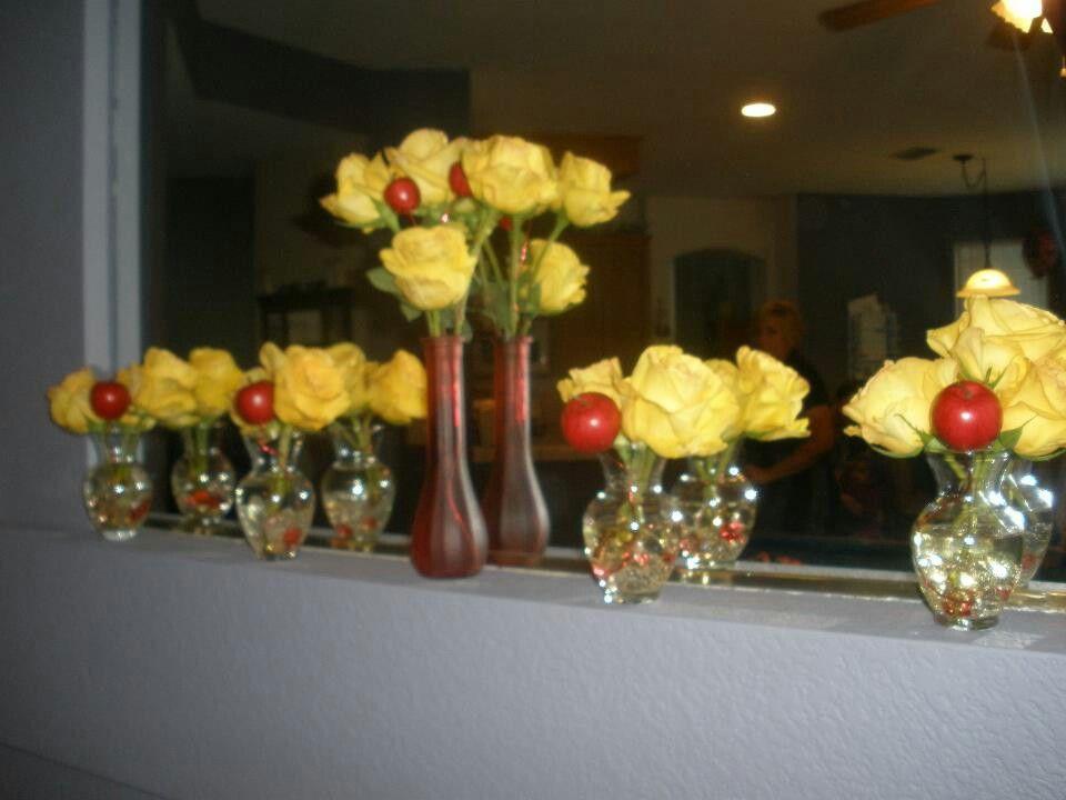Snow White inspired flowers