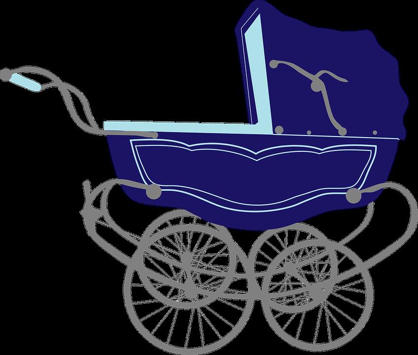 Free Image on Pixabay Baby, Blue, Carriage, Infant, Pram