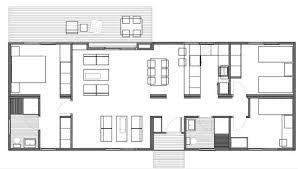 Resultado de imagen para casas peque as lineales planos - Casas estrechas y largas ...