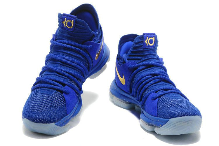 reputable site 6cb78 bf1e6 New Arrival 2018 Nike KD 10 Finals Racer Blue Metallic Gold