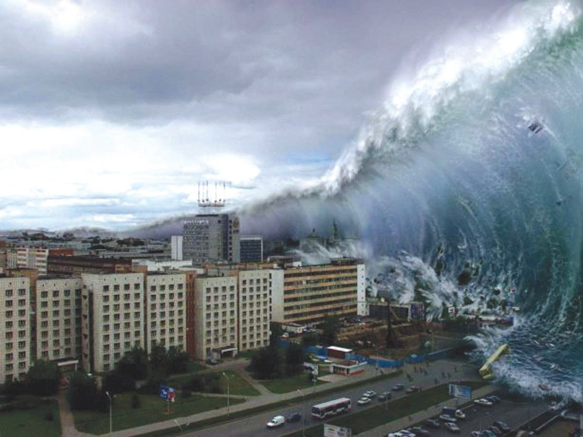 The biggest tsunami in the world 95