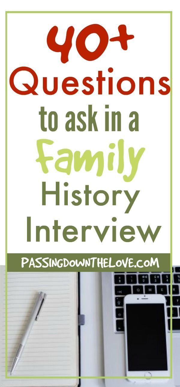 Free Printable 40+ Family Questions to ask about Family ...