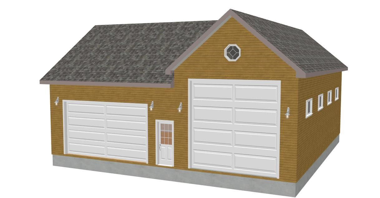 Detached garage plans garage plans detached with Workshop garage plans