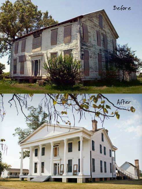 Abandoned To Beautiful Civil War House In Ms Home Exterior Makeover House Makeovers Exterior Makeover