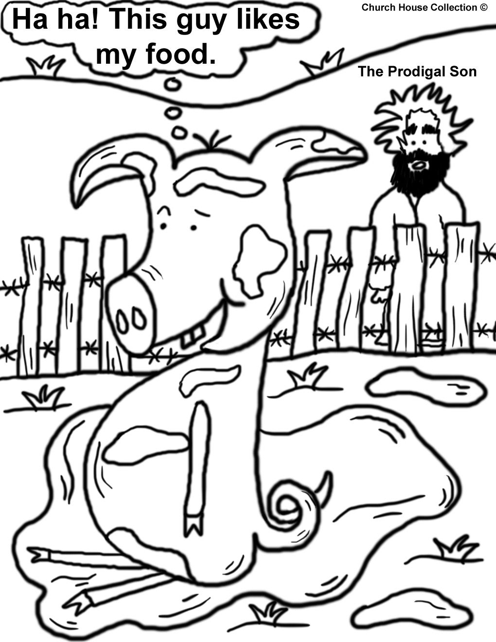The Prodgial Son Coloring Page   Sunday school   Pinterest ...