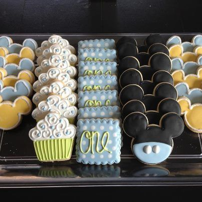 baby mickey cake cookies